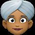 👳🏾♀️ woman wearing turban: medium-dark skin tone Emoji on Facebook Platform