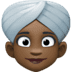 👳🏿‍♀️ woman wearing turban: dark skin tone Emoji on Facebook Platform