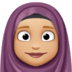 🧕🏼 woman with headscarf: medium-light skin tone Emoji on Facebook Platform
