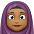 🧕🏾 woman with headscarf: medium-dark skin tone Emoji on Facebook Platform