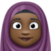 🧕🏿 woman with headscarf: dark skin tone Emoji on Facebook Platform