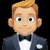 🤵🏼 man in tuxedo: medium-light skin tone Emoji on Facebook Platform