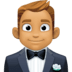 🤵🏽 man in tuxedo: medium skin tone Emoji on Facebook Platform