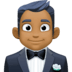 🤵🏾 man in tuxedo: medium-dark skin tone Emoji on Facebook Platform