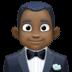 🤵🏿 man in tuxedo: dark skin tone Emoji on Facebook Platform