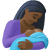 🤱🏿 Dark Skin Tone Woman Breast Feeding Emoji on Facebook Platform