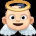 👼🏻 baby angel: light skin tone Emoji on Facebook Platform