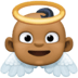 👼🏾 baby angel: medium-dark skin tone Emoji on Facebook Platform