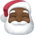 🎅🏿 Santa Claus: dark skin tone Emoji on Facebook Platform