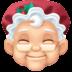 🤶🏻 Mrs. Claus: light skin tone Emoji on Facebook Platform