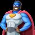🦸🏿♂️ man superhero: dark skin tone Emoji on Facebook Platform