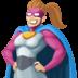 🦸🏼♀️ woman superhero: medium-light skin tone Emoji on Facebook Platform