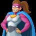 🦸🏽♀️ woman superhero: medium skin tone Emoji on Facebook Platform
