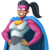 🦸🏾‍♀️ woman superhero: medium-dark skin tone Emoji on Facebook Platform