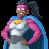 🦸🏿♀️ woman superhero: dark skin tone Emoji on Facebook Platform