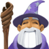 🧙🏽‍♂️ man mage: medium skin tone Emoji on Facebook Platform
