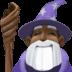 🧙🏿♂️ man mage: dark skin tone Emoji on Facebook Platform