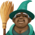🧙🏿‍♀️ woman mage: dark skin tone Emoji on Facebook Platform