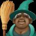 🧙🏿♀️ woman mage: dark skin tone Emoji on Facebook Platform