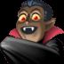 🧛🏿♂️ man vampire: dark skin tone Emoji on Facebook Platform