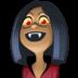 🧛🏾♀️ woman vampire: medium-dark skin tone Emoji on Facebook Platform
