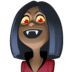 🧛🏿♀️ woman vampire: dark skin tone Emoji on Facebook Platform