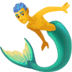 🧜♂️ merman Emoji on Facebook Platform