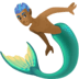 🧜🏾‍♂️ merman: medium-dark skin tone Emoji on Facebook Platform