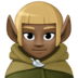 🧝🏿 elf: dark skin tone Emoji on Facebook Platform