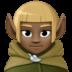 🧝🏿 Dark Skin Tone Elf Emoji on Facebook Platform
