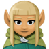🧝🏽‍♀️ woman elf: medium skin tone Emoji on Facebook Platform