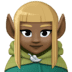 🧝🏿♀️ Dark Skin Tone Female Elf Emoji on Facebook Platform