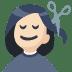 💇🏻 person getting haircut: light skin tone Emoji on Facebook Platform