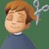 💇🏼♂️ Medium Light Skin Tone Man Getting Haircut Emoji on Facebook Platform