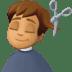 💇🏽♂️ man getting haircut: medium skin tone Emoji on Facebook Platform