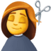 💇‍♀️ woman getting haircut Emoji on Facebook Platform