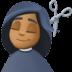💇🏾♀️ woman getting haircut: medium-dark skin tone Emoji on Facebook Platform