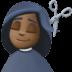 💇🏿♀️ woman getting haircut: dark skin tone Emoji on Facebook Platform