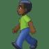 🚶🏿♂️ man walking: dark skin tone Emoji on Facebook Platform