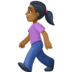 🚶🏾‍♀️ woman walking: medium-dark skin tone Emoji on Facebook Platform