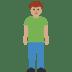 🧍🏽 person standing: medium skin tone Emoji on Facebook Platform