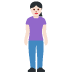 🧍🏻♀️ woman standing: light skin tone Emoji on Facebook Platform