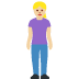 🧍🏼‍♀️ woman standing: medium-light skin tone Emoji on Facebook Platform