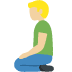 🧎🏼 person kneeling: medium-light skin tone Emoji on Facebook Platform
