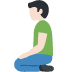 🧎🏻‍♂️ man kneeling: light skin tone Emoji on Facebook Platform