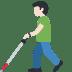 👨🏻🦯 man with probing cane: light skin tone Emoji on Facebook Platform