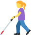 👩‍🦯 Woman With Probing Cane Emoji on Facebook Platform