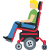 👨🏼🦼 man in motorized wheelchair: medium-light skin tone Emoji on Facebook Platform