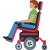 👨🏽‍🦼 man in motorized wheelchair: medium skin tone Emoji on Facebook Platform