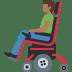 👨🏾🦼 man in motorized wheelchair: medium-dark skin tone Emoji on Facebook Platform